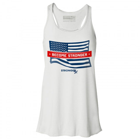 StrongerRX U.S.A. Flag Tank Top / White - StrongerRX