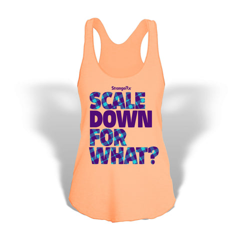StrongerRX Scale Down Fop What Tank Top Shirt / Orange - StrongerRX