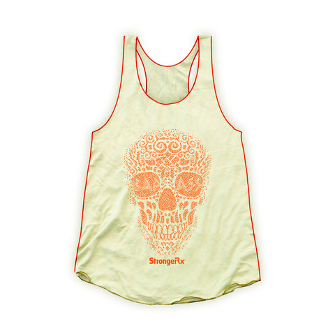 StrongerRX Bad Ass Skull Tank Top / Yellow
