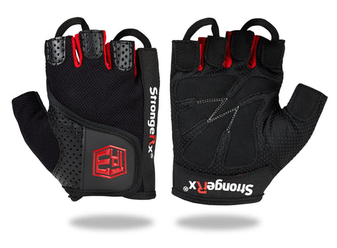 StrongerRx TR3 Weightlifting Gloves - Black