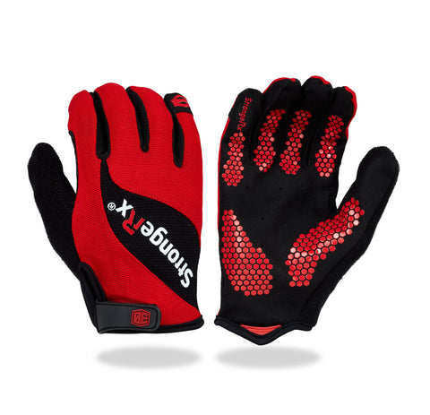StrongerRx 3.0 WOD Fitness Gloves - Red - StrongerRX - 1