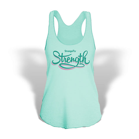 StrongerRX Strength Tank Top / Mint Green - StrongerRX