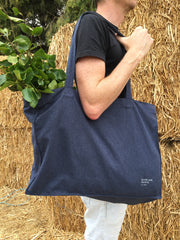 BASIL Large Tote Bag - Navy