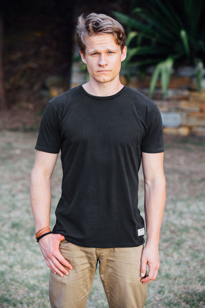TOM Vintage Washed T-shirt - Black Charcoal