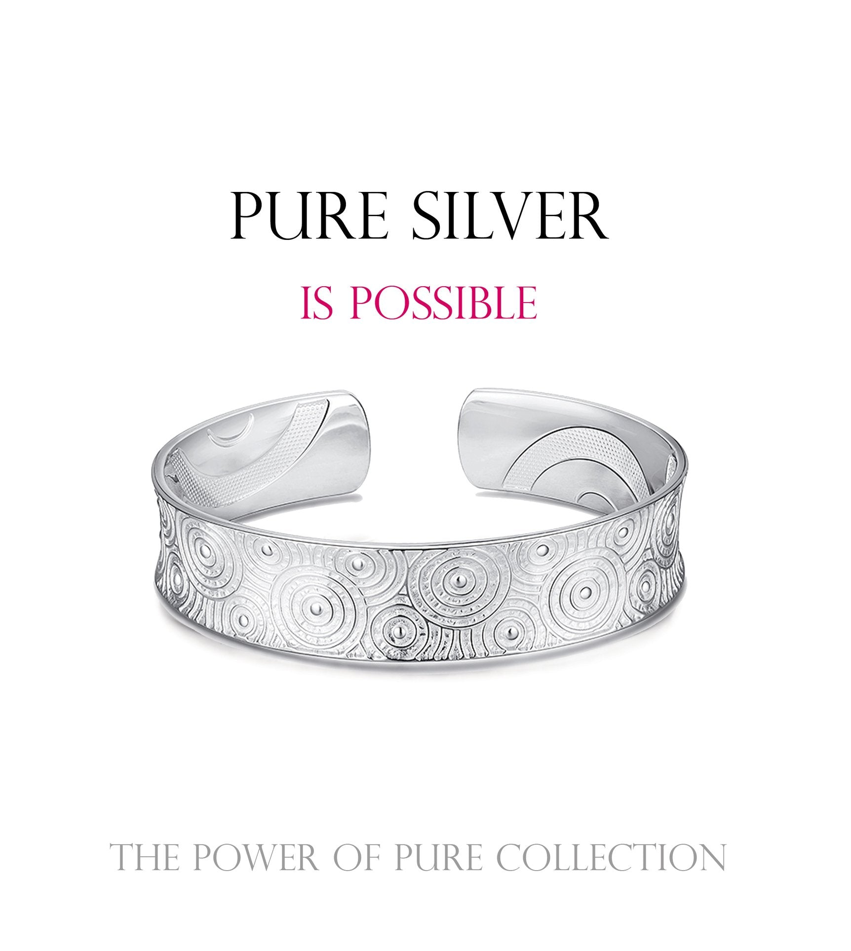 pure silver is possible. the power of pure collection. silver bracelet