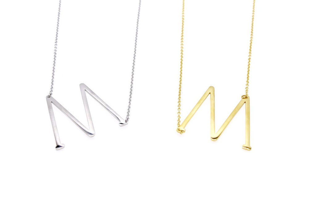Initial Letter Necklace M - By MAQ