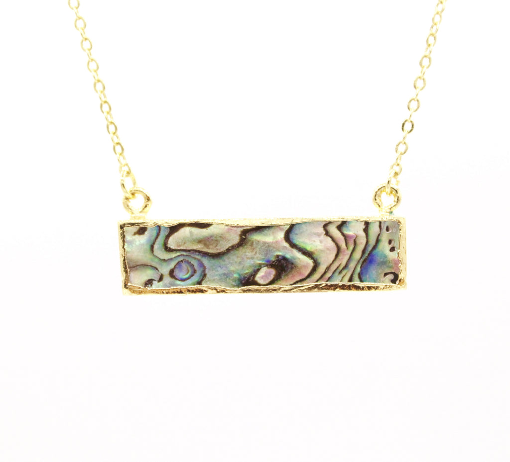 Natural Abalone Bar Necklace
