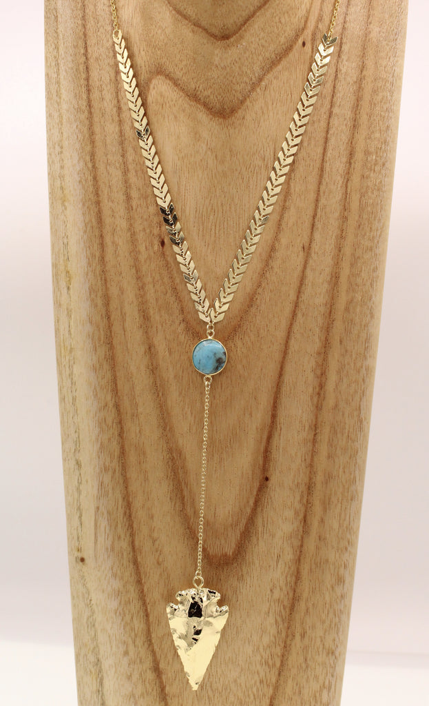 Lauren Arrowhead Necklace - By MAQ