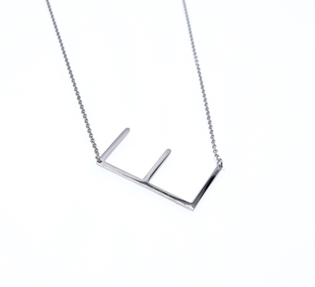 Initial Necklace E