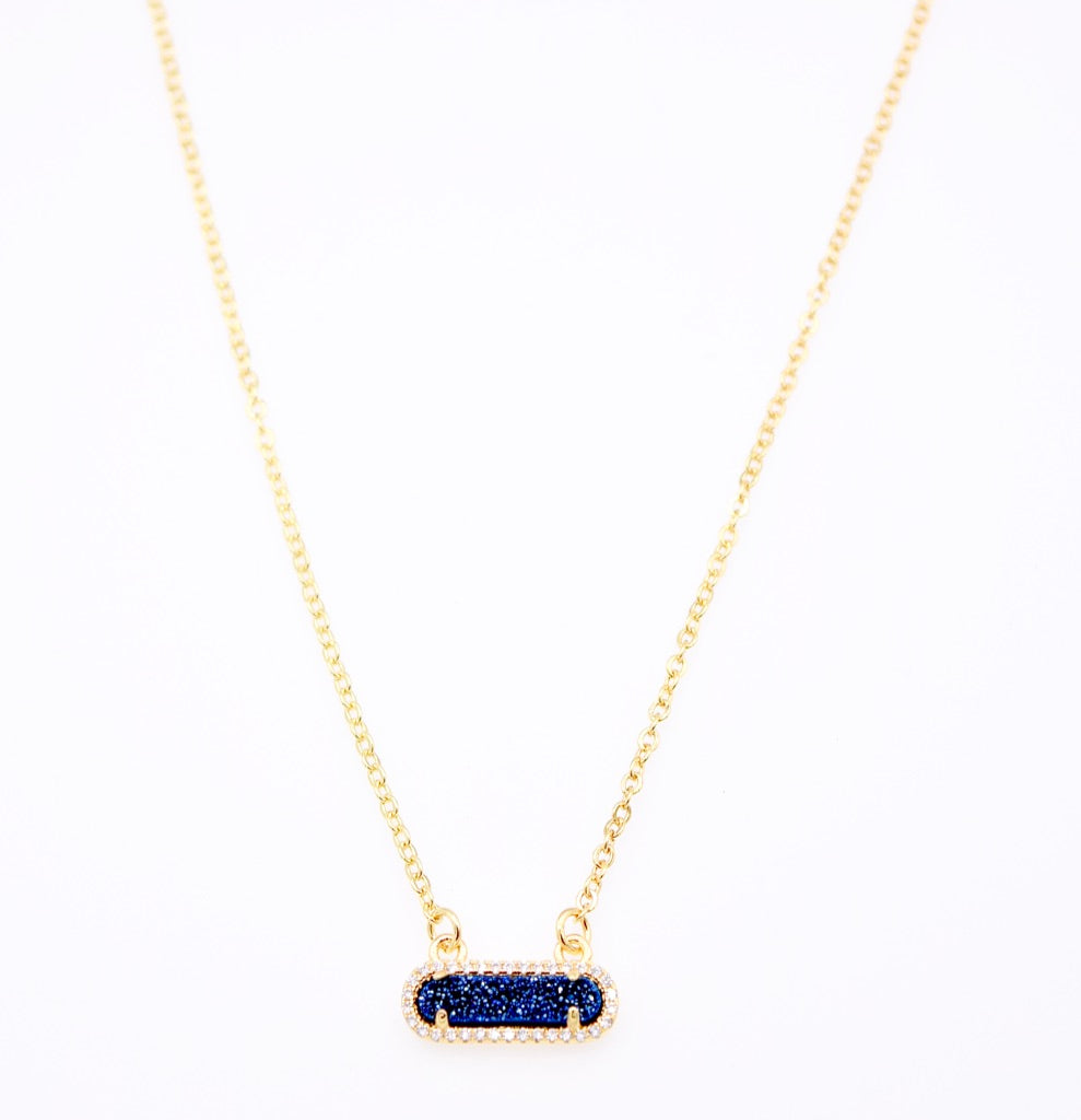 Queen Druzy Necklace Gold