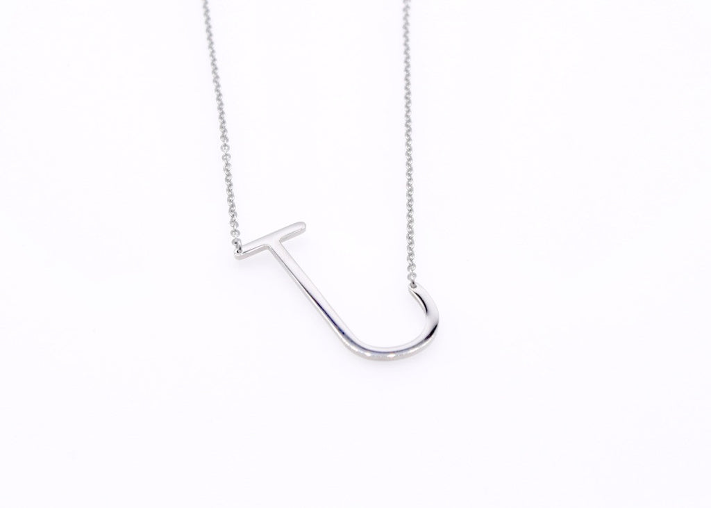 Initial Letter Necklace J