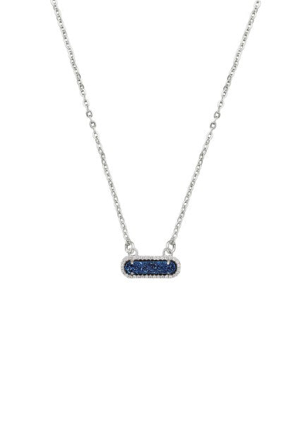 Queen Druzy Necklace Silver