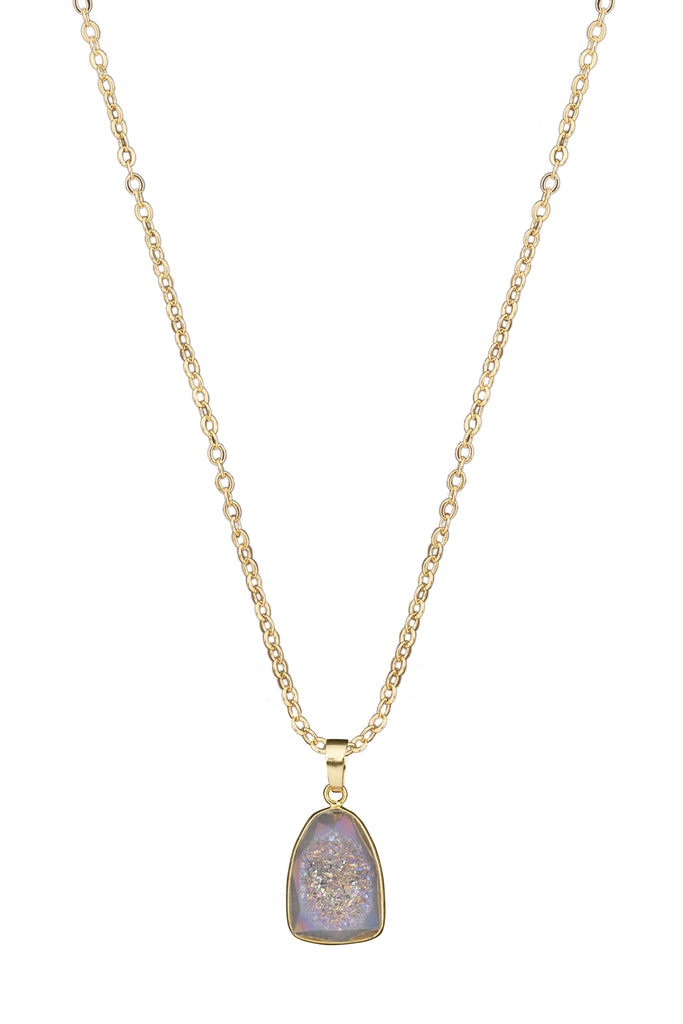 Large Druzy Belle Necklace - By MAQ