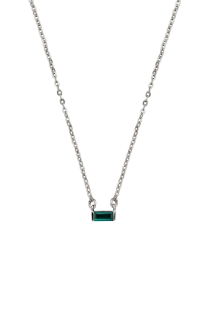 Birthstone Necklace Silver - By MAQ