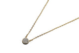 Round Silver Druzy Necklace - By MAQ
