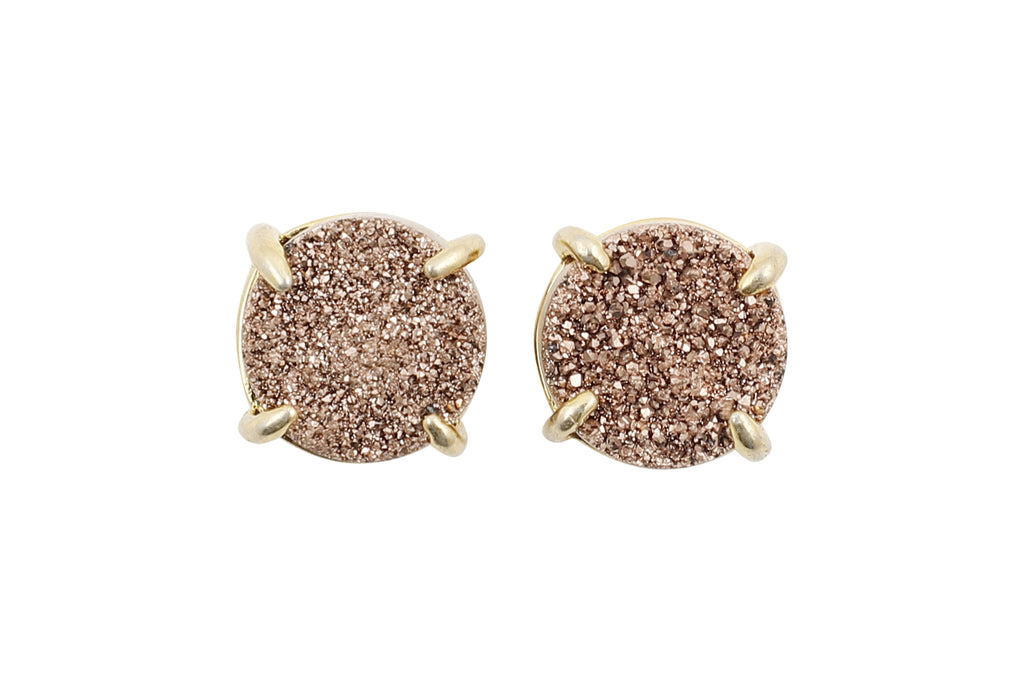 5 Way Druzy Earrings Gold - By MAQ