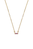 Birthstone Necklace Gold