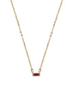 Birthstone Necklace Gold - By MAQ