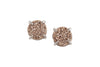 5 Way Druzy Earrings Studs Silver - By MAQ