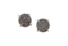 5 Way Druzy Earrings Studs Silver