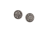 Small Julia Druzy Studs Silver - By MAQ