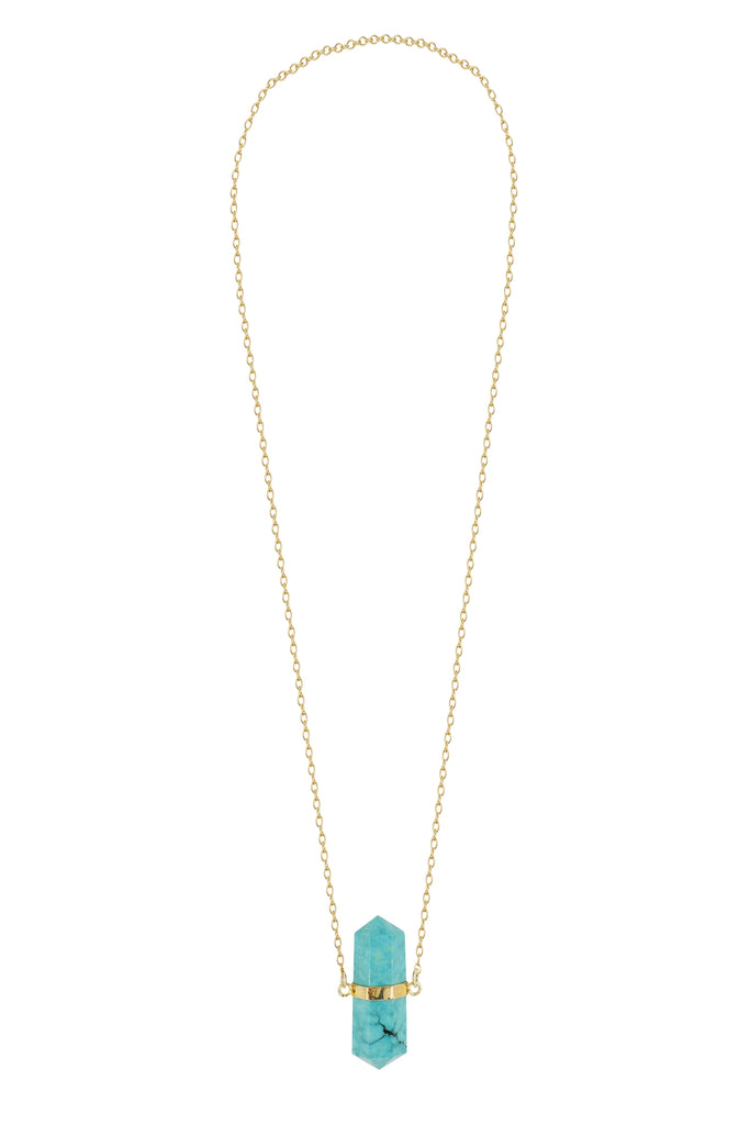 Laura Turquoise Long Necklace - By MAQ