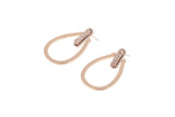 Druzy Queen Earrings Hoops Rose Gold - By MAQ
