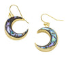 Abalone Shell Moon Earrings