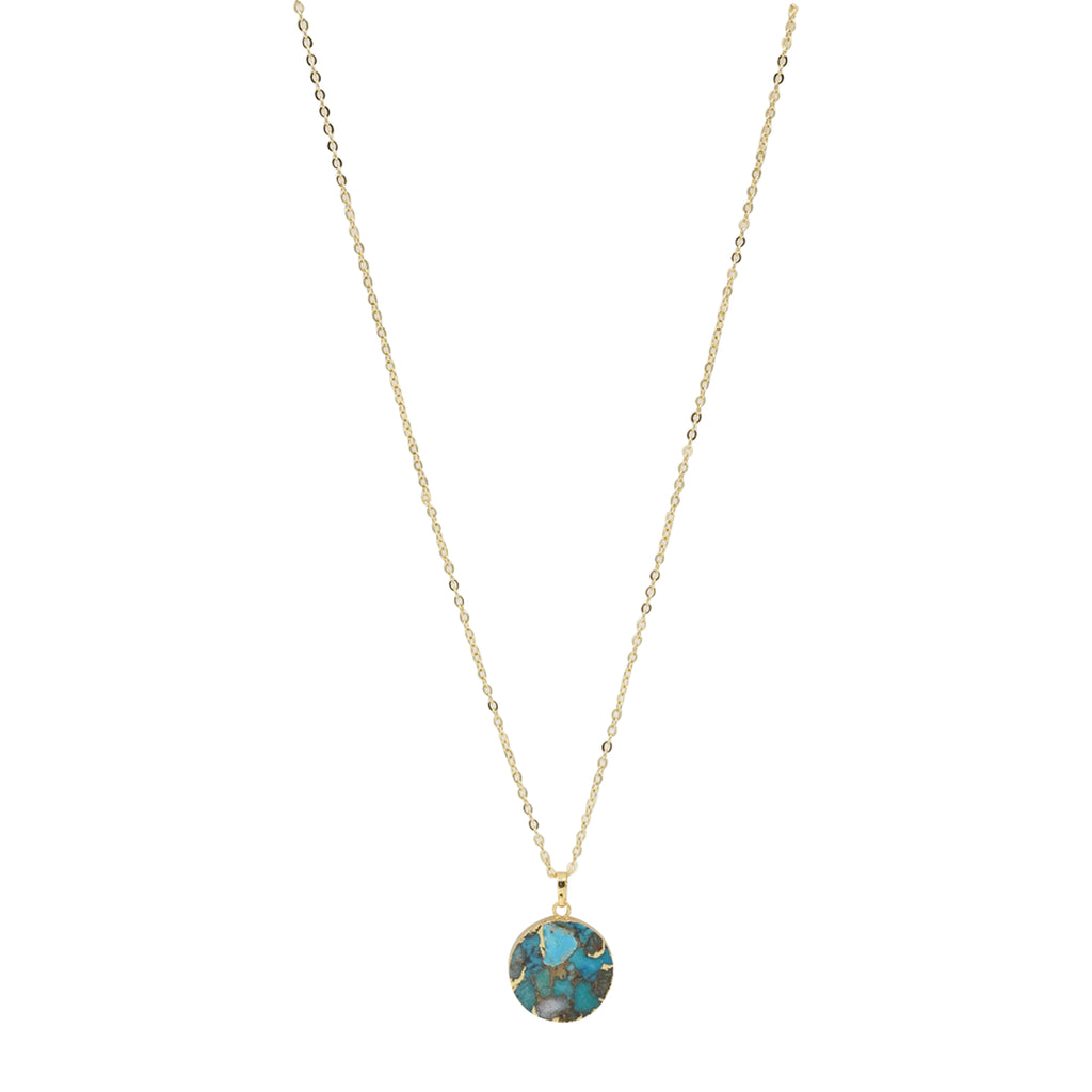Natural Turquoise Stella Necklace