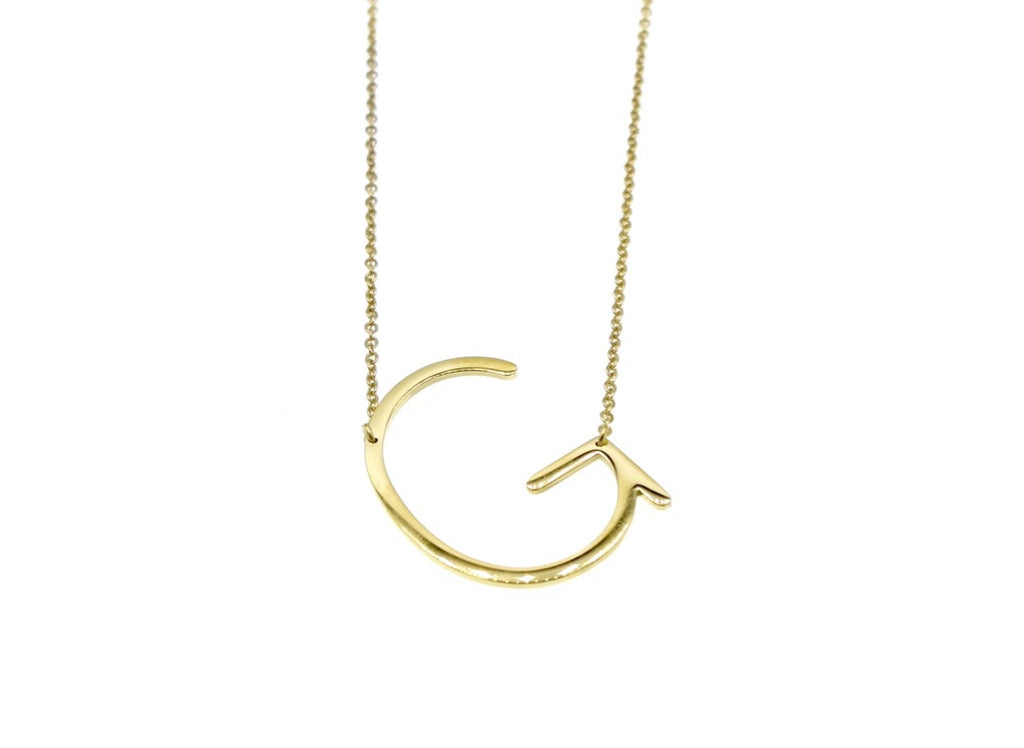Initial Letter Necklace G - By MAQ