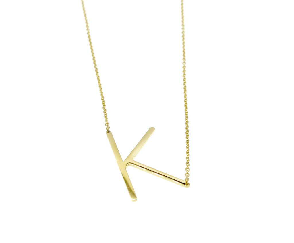 Initial Letter Necklace K - By MAQ