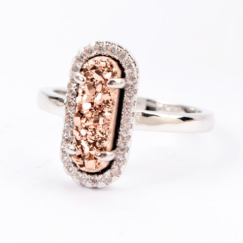 Glam Mother of Pearl Ring