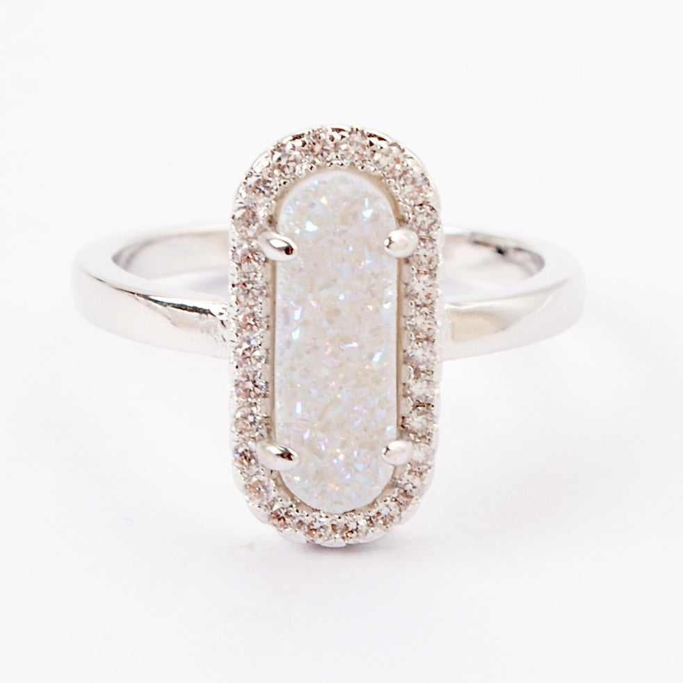 Queen Druzy Ring Silver - By MAQ