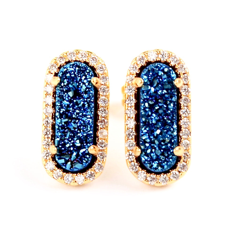 Queen Druzy Studs Gold - By MAQ