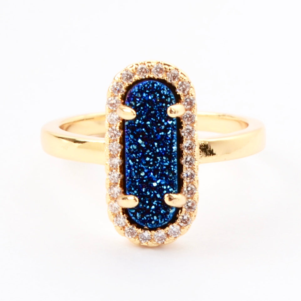 Queen Druzy Ring Gold - By MAQ