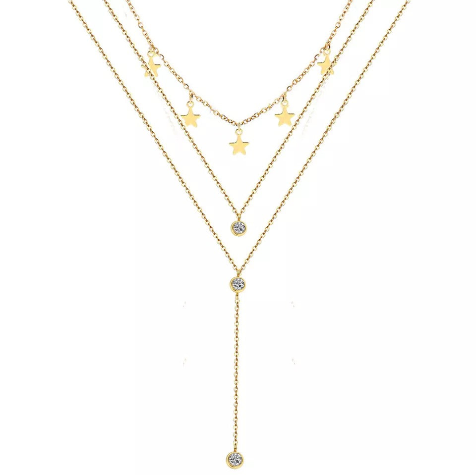 Star Triple Necklace