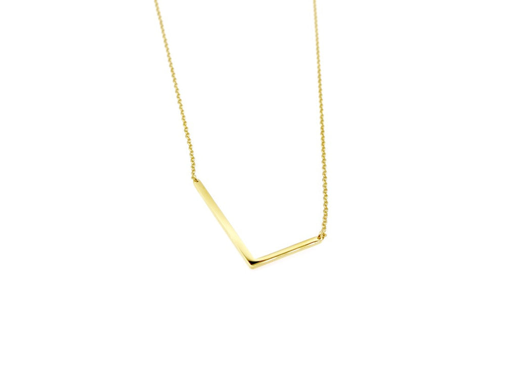 Initial Letter Necklace L - By MAQ