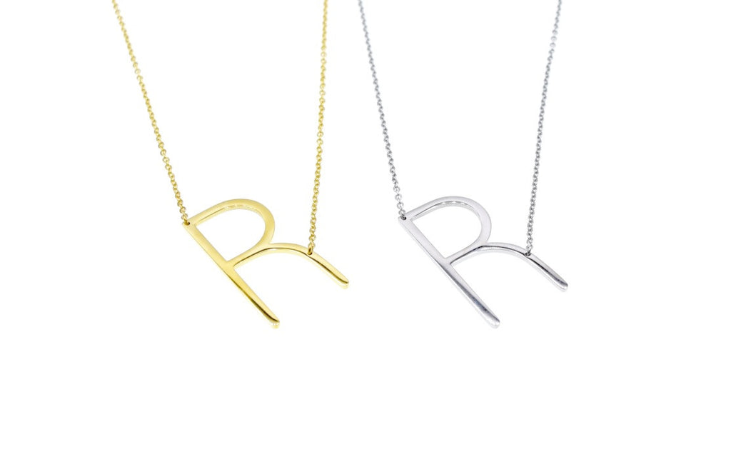 Initial Letter Necklace R - By MAQ