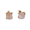 Quartz studs earrings