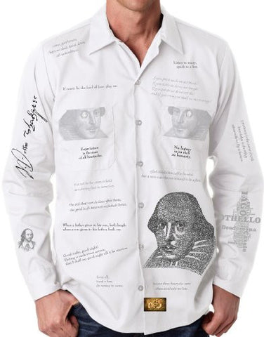 'Shakespeare' Graphic Button Down Shirt for Men by GNU World