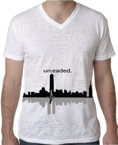 'Freedom Tower LongBoard' Burnout V-Neck by Unleaded