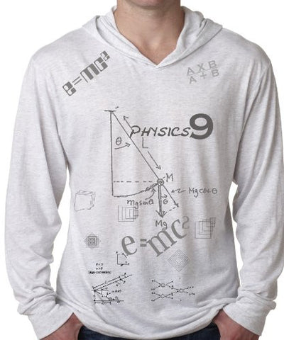 """Physics"" Men's Lightweight Tri-Blend Hoodie"