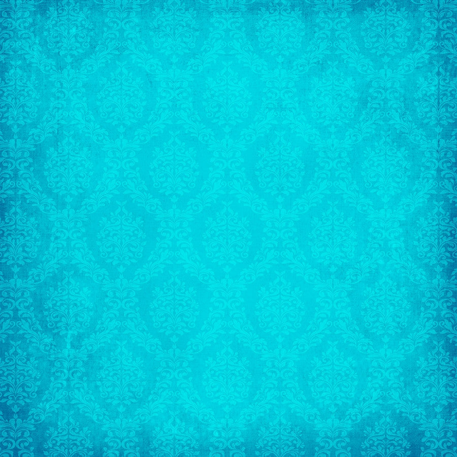 Damask Backdrop Lovely Blue Grunge