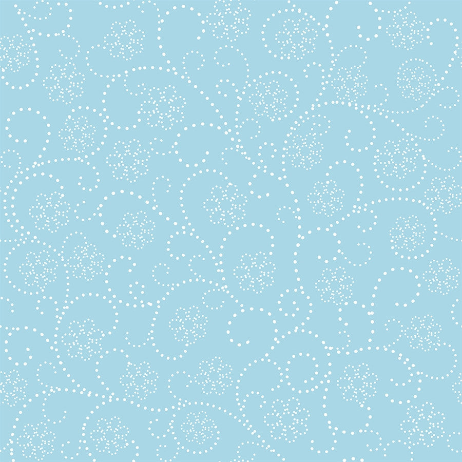 Pattern Backdrop Dotted Flower Blue and White