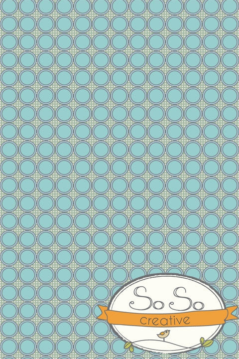 Pattern Backdrop In-line Circles Blue