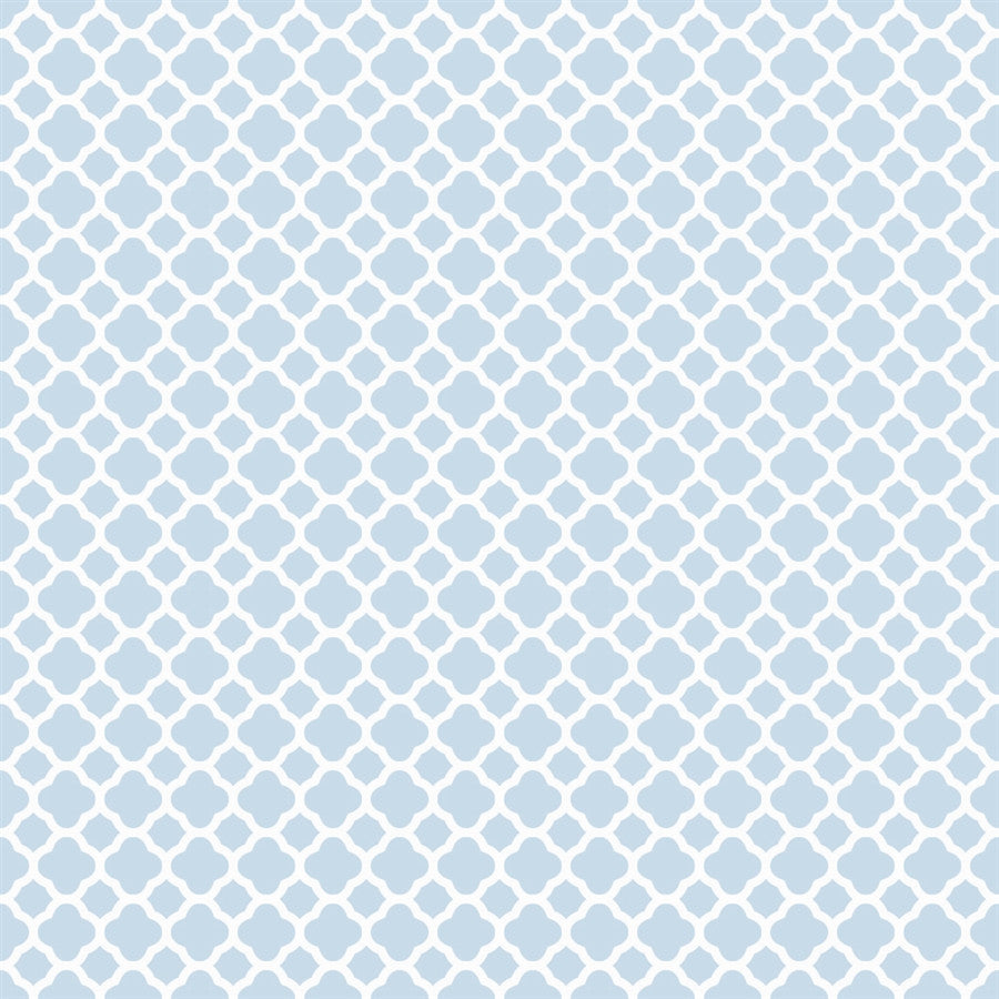 Pattern Backdrop Lattice in Sky Blue