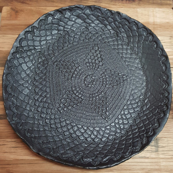 Ebony Satin Lace Plate