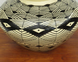 Geometric Vase in Black and White by Georgie Waldron