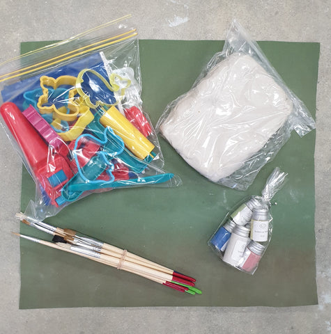Kids Deluxe Clay Kit including firing and shipping