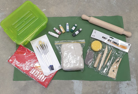 Adult Deluxe Clay Kit including firing and shipping